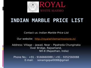 Indian Marble Price List.pptx