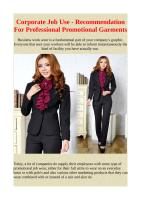 Corporate Job Use - Recommendation For Professional Promotional Garments.pdf