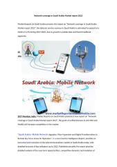 Network coverage in Saudi Arabia Market report 2022.doc