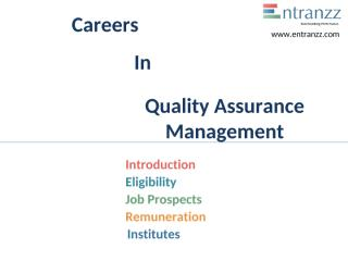 100.Careers In Quality Assurance Management.pptx