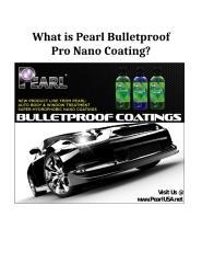 What is Pearl Bulletproof Pro Nano Coating_ .doc