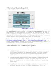 SAP S4 HANA Simple Logistics Course Pune India PPT.ppt