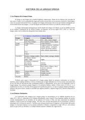 Gramática Griega - Historia de la Lengua Griega, Generalidades(1).doc