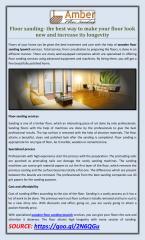 Floor sanding- the best way to make your floor look new and increase its longevity.pdf