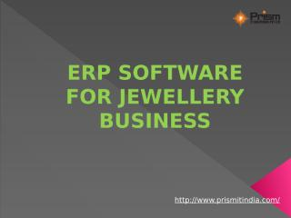 Top 10 ERP software companies in puneERP software for jewelry business PrismIT.pptx