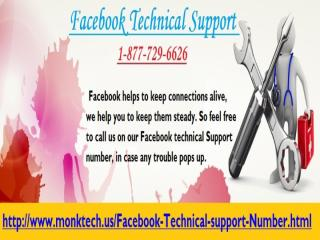 Call @ Facebook Technical Support 1-877-729-6626 and get professional support.pptx