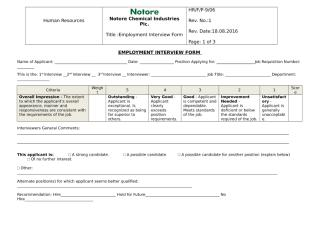 Interview Form.doc