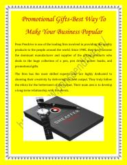 Promotional Gifts-Best Way To Make Your Business Popular.pdf