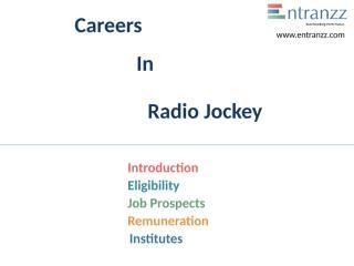 101.Careers In Radio Jockey.pptx