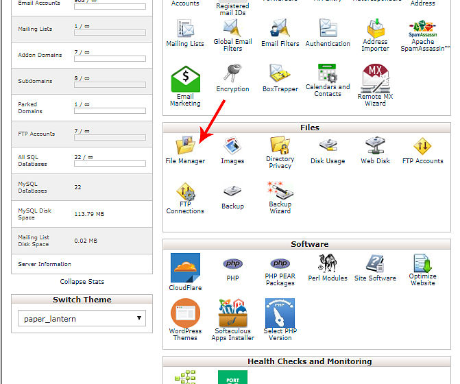 Cpanel_File_Manager_Tabe
