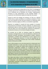 Los derechos humanos y el mantenimiento de la suspensión de Honduras de la OEA - 08 junio 2010.pdf