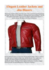 Elegant Leather Jackets and also Blazers.pdf